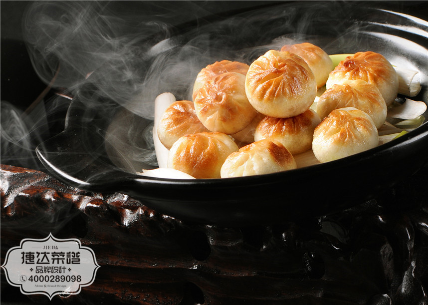 葱香煎包中餐菜品摄影