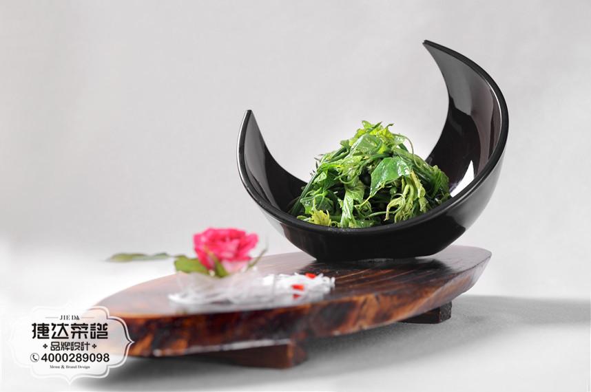 姜汁南瓜尖中餐菜品摄影