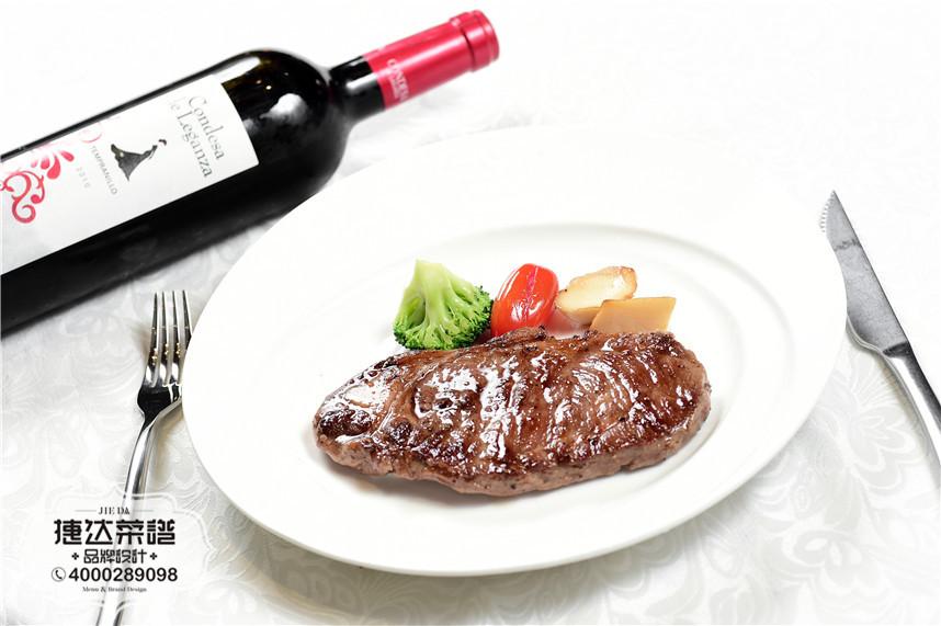 澳洲西冷牛排西餐菜品摄影