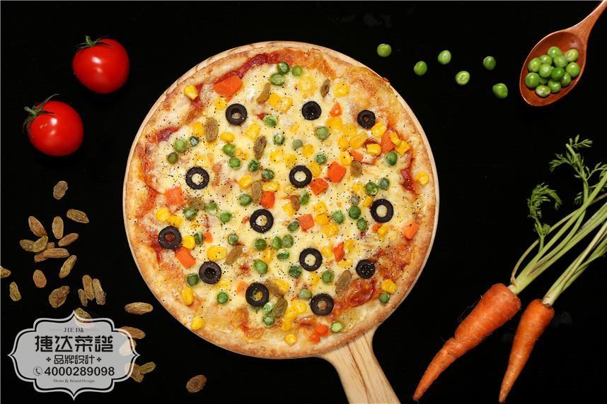 田园蔬果披萨西餐菜品摄影