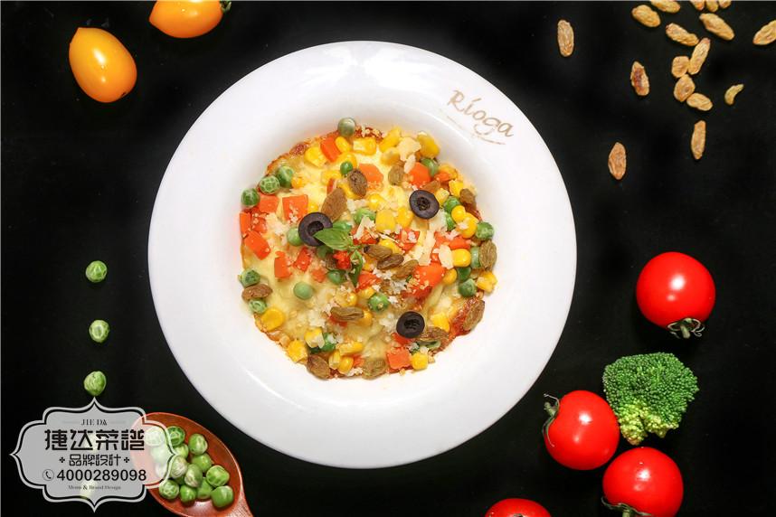 芝士培根焗豆蓉西餐菜品摄影