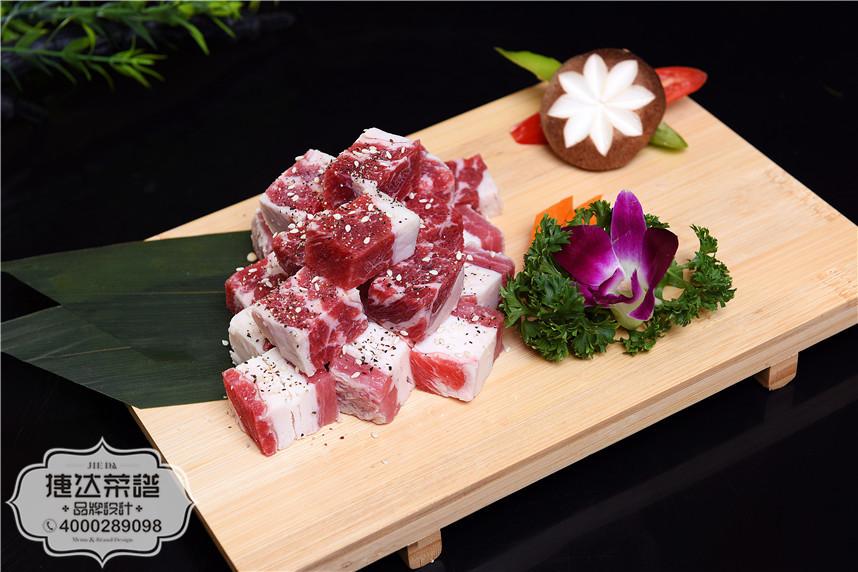 黑椒牛肉粒韩泰日料理菜品摄影图片