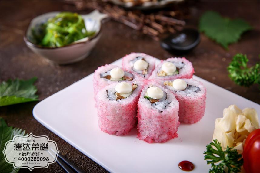 樱花卷韩泰日料理菜品摄影图片