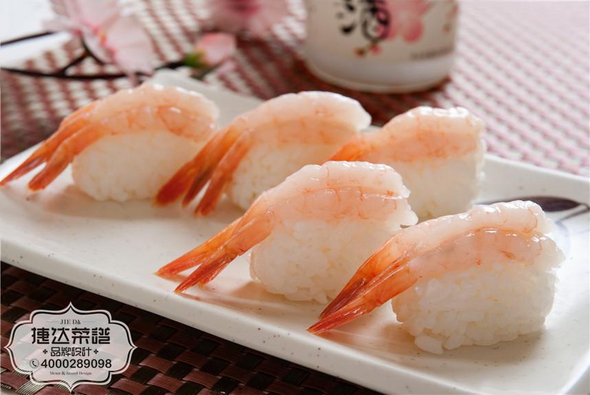 甜虾寿司韩泰日料理菜品摄影图片
