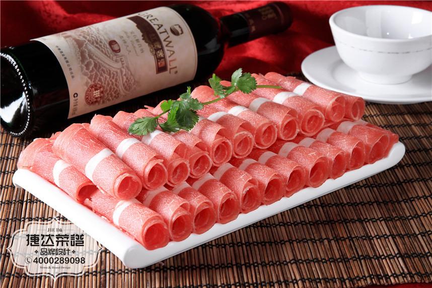 浓汤澳洲雪花肥牛火锅菜品摄影图片